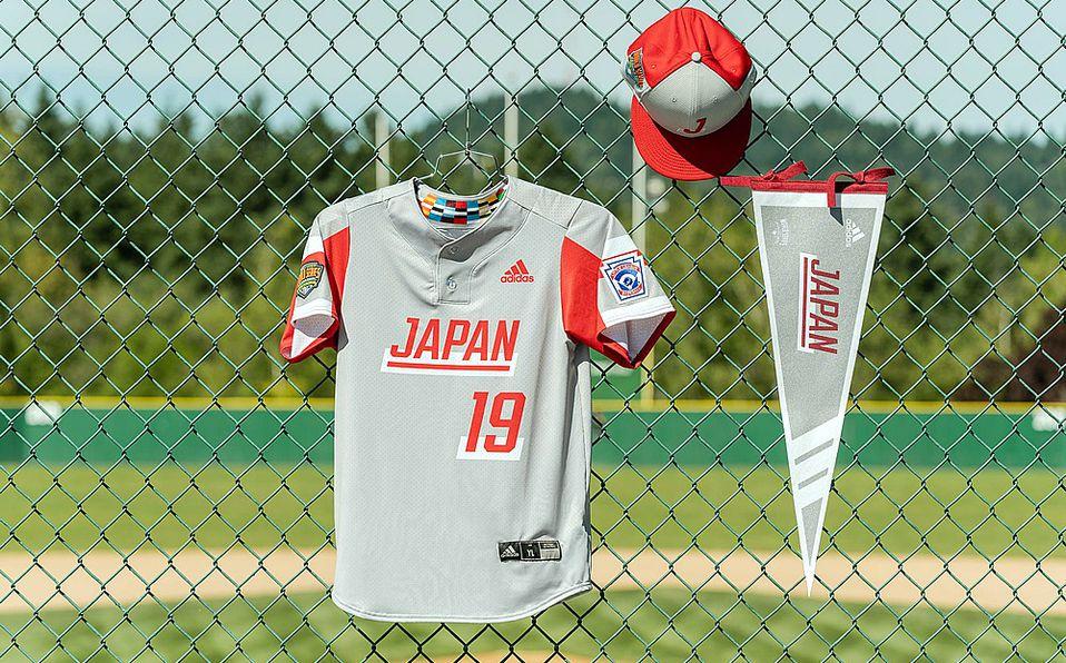 Jersey del equipo representante de Japón en la Serie Mundial de Ligas Pequeñas. Foto: Adidas