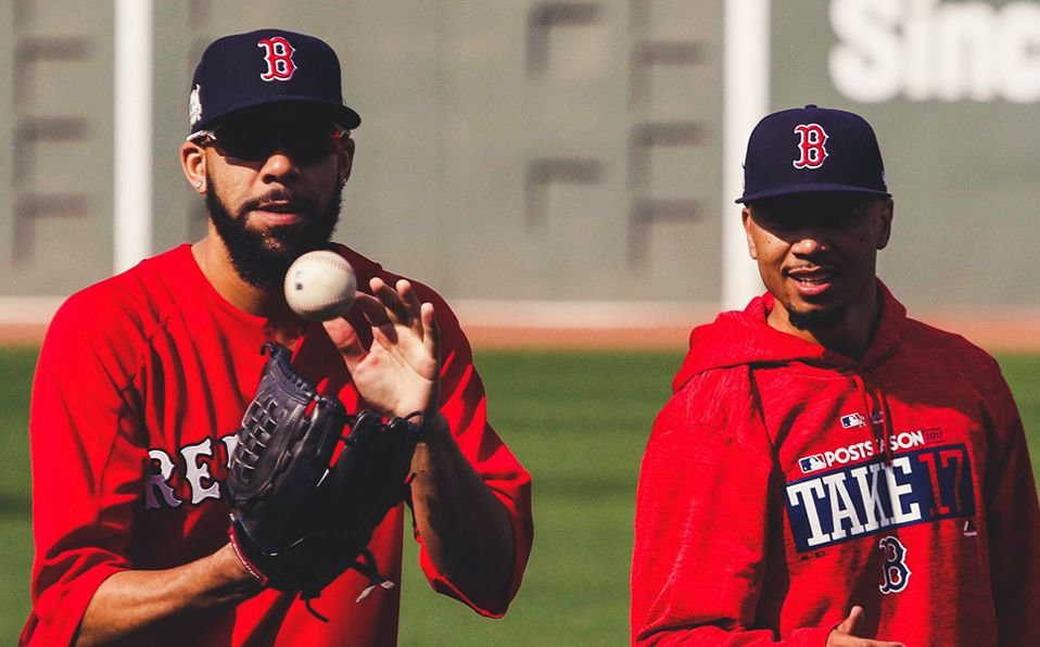 Price y Betts coincidieron de 2016 a 2019 con los Red Sox de Boston. (Foto: @LasMayores)
