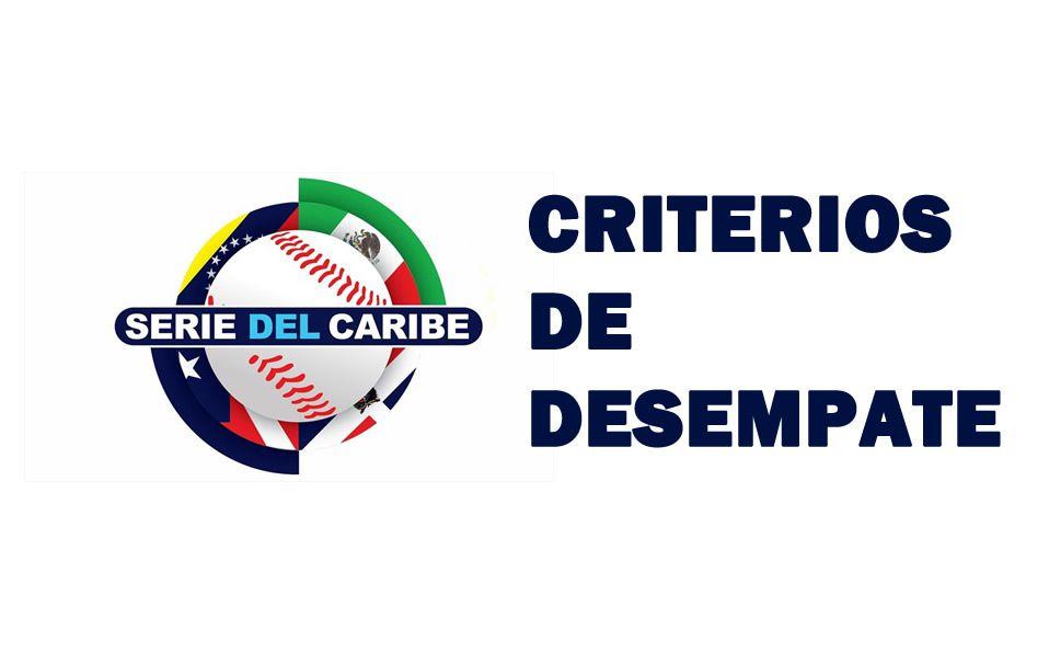 Reglas de desempate de la Serie del Caribe