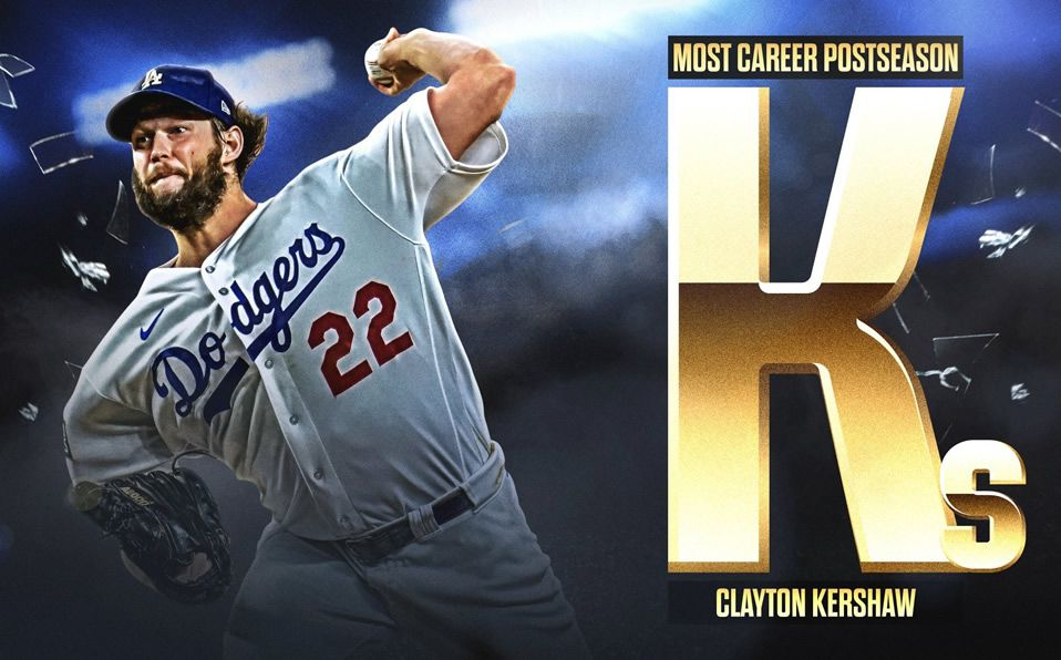 [VIDEO] Con K de Kershaw: rompe marca de K en playoffs