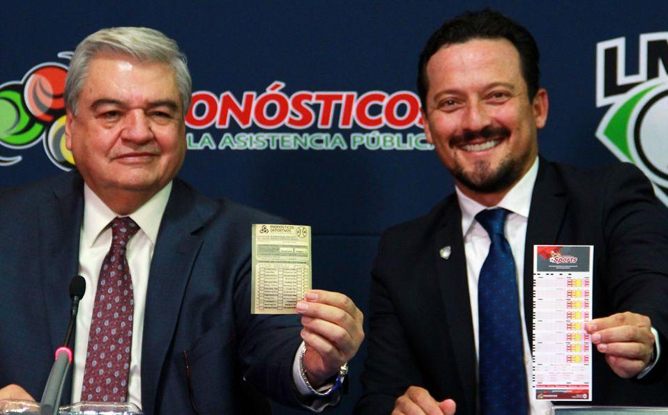 Los altos mandos de Pronósticos y LMB presentan el producto. (Foto: Carlos Santiago R.)