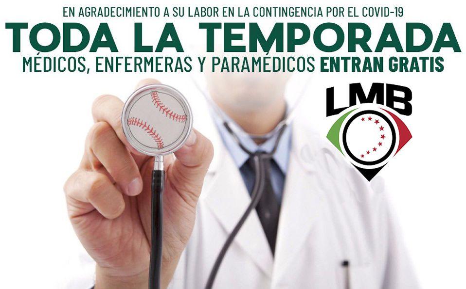 Personal médico entrará gratis a los 16 parques de la LMB en 2020