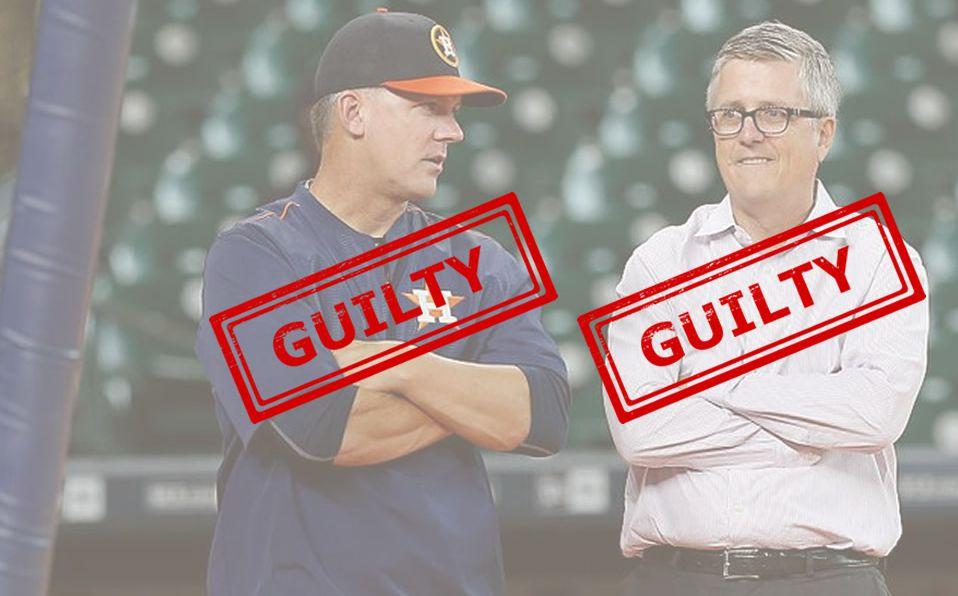 Jeff Lunhow y AJ Hinch suspendidos un año... y Astros los corre