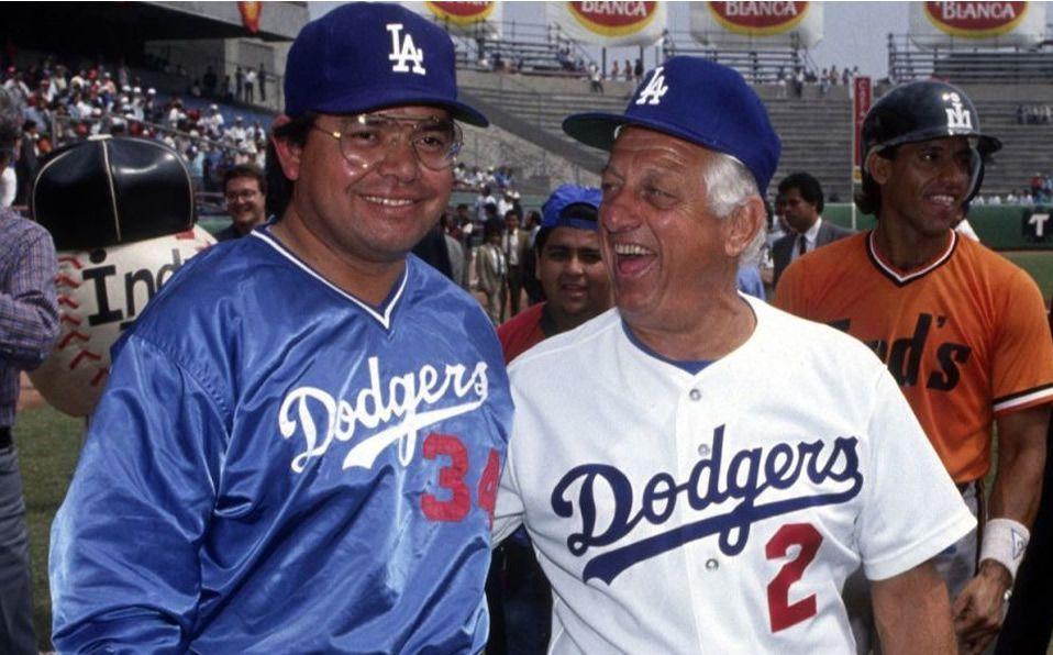 Los peloteros mexicanos que dirigió Tom Lasorda con Dodgers. Foto: Dodgers