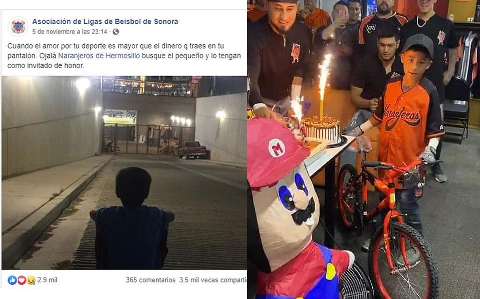 La gran fiesta de cumpleaños de los Naranjeros para un pequeño fan