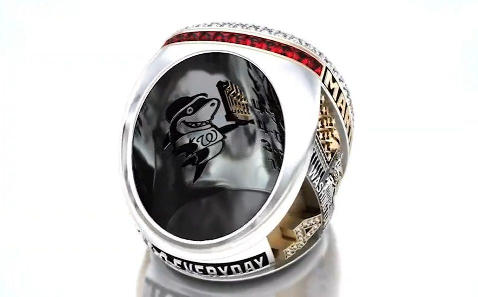 Los anillos fueron develados de manera digital por primera vez en la historia de MLB. (Foto: @Nationals)
