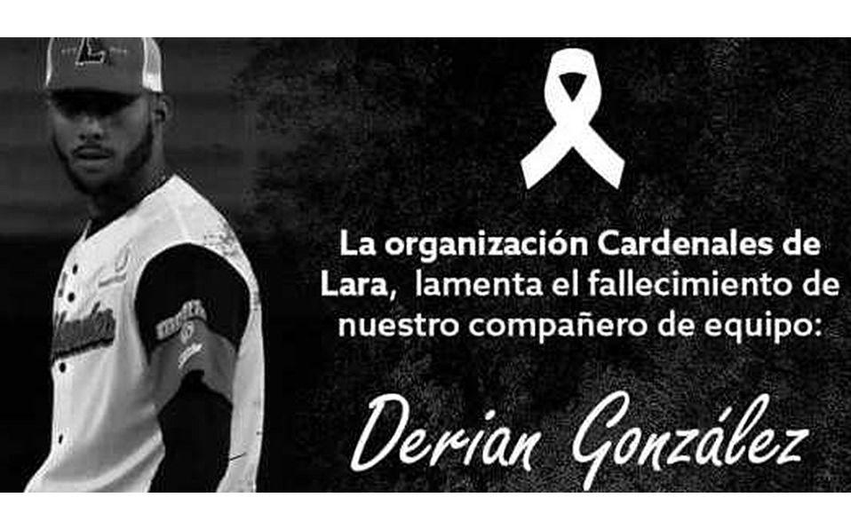 LVBP: Fallece el pitcher Derian González, de Cardenales de Lara