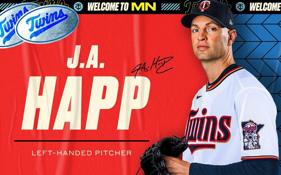 JA Happ oficialmente firma con los Minnesota Twins