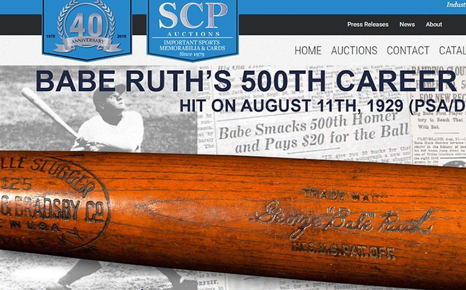 ¿Cuánto pagaron por el bat de Babe Ruth?