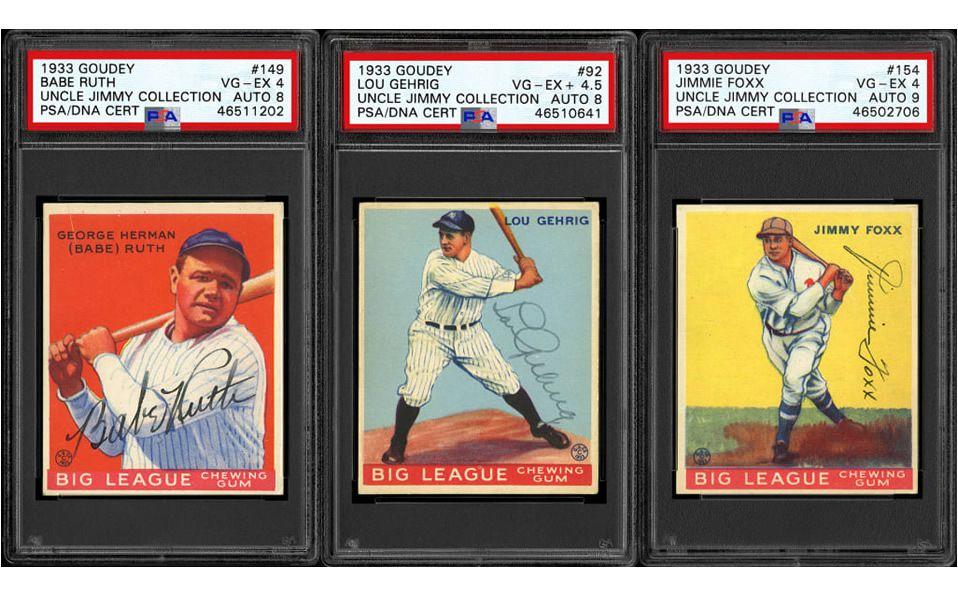 Descubren tesoro de tarjetas firmadas por leyendas de MLB