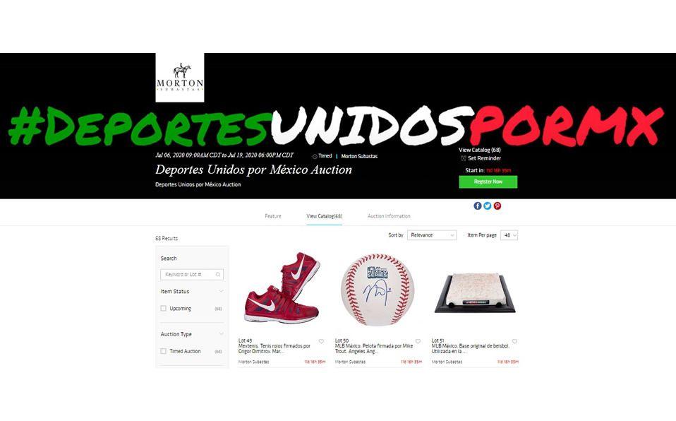 Subastarán en México artículos deportivos inéditos