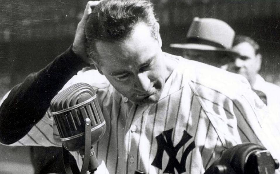 Lou Gehrig dio su famoso speech 'el hombre más afortunado del planeta'