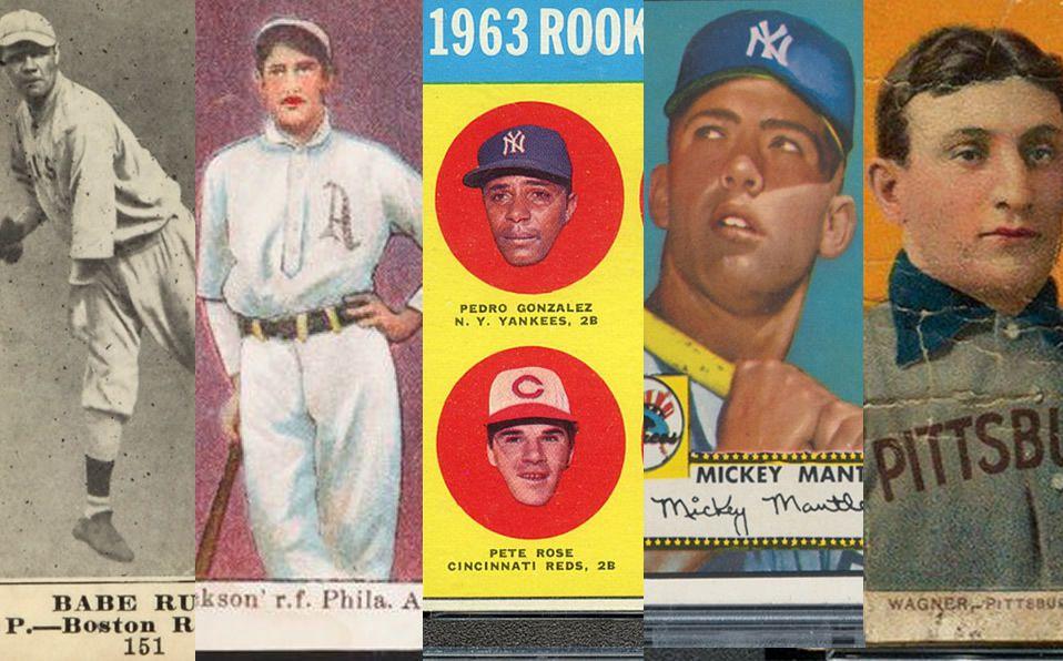 Las 5 tarjetas de beisbol más costosas