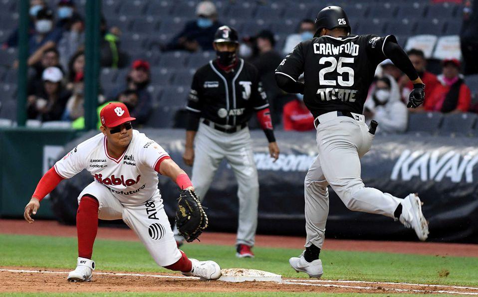 Diablos Rojos y Toros se enfrentaron en el Estadio Alfredo Harp, serie que ganó Tijuana 2-1. Foto: Enrique Gutiérrez