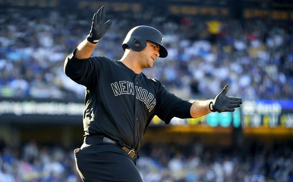 Mike Ford pegó su sexto home run de por vida en las Grandes Ligas. (Foto: AP)