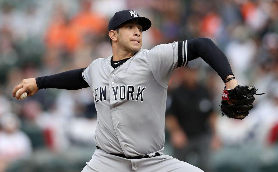 Después de seis temporadas con Yankees, Luis Cessa fue canjeado. (@MLB_Mexico)