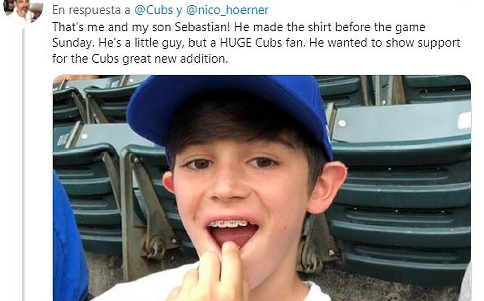 Cubs encuentra al pequeño fan que usó una playera pintada por él