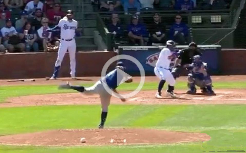 [VIDEO] Pitcheo de Julio Urías le fractura mandíbula a Calhoun