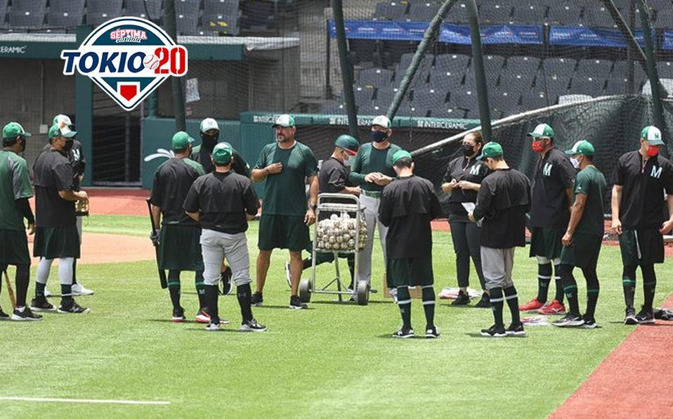Selección Mexicana de Beisbol entrenó el miércoles por la tarde en el Estadio Alfredo Harp Helú. Foto: @MexicoBeis