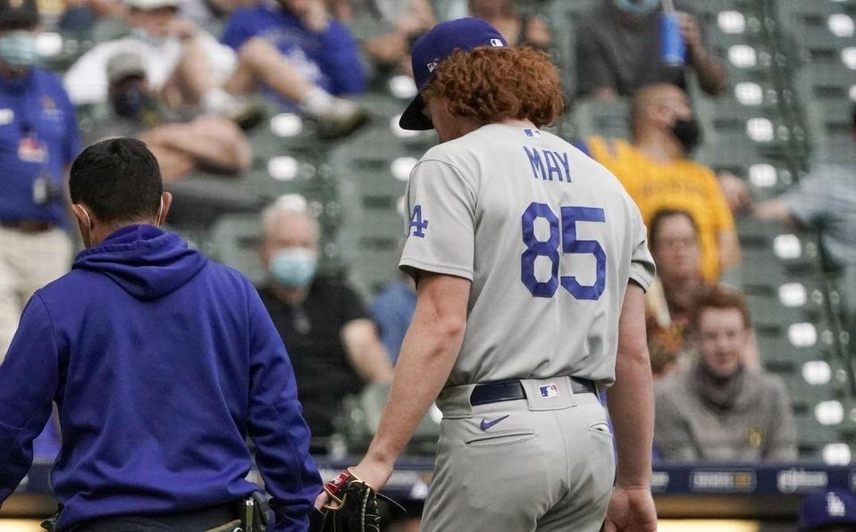 Dustin May estaba proyectado como uno de los abridores de Dodgers este 2021. (AP)