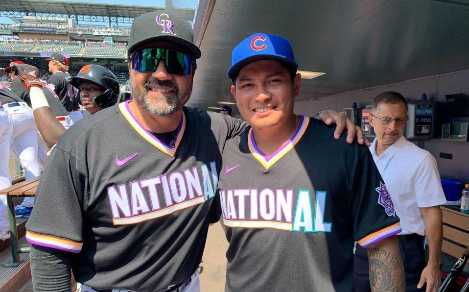 Vinicio Castilla y Manuel Rodríguez coincidieron en el equipo de la Liga Nacional. (@MLB_Mexico)