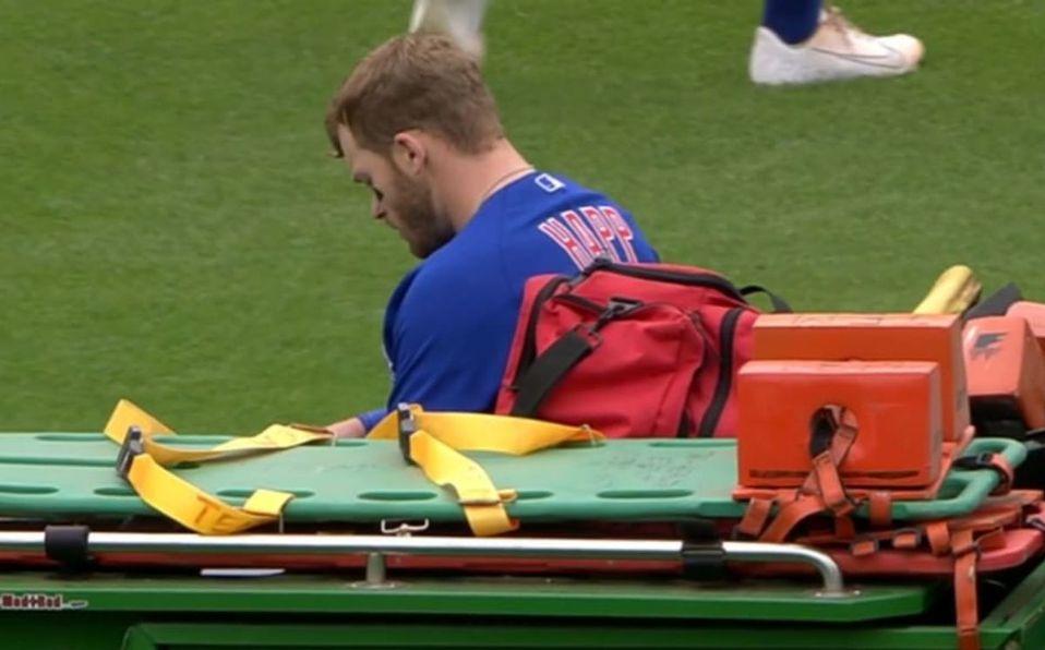 Ian Happ había disparado un jonrón de tres carreras momentos antes del accidente. (MLB.com)