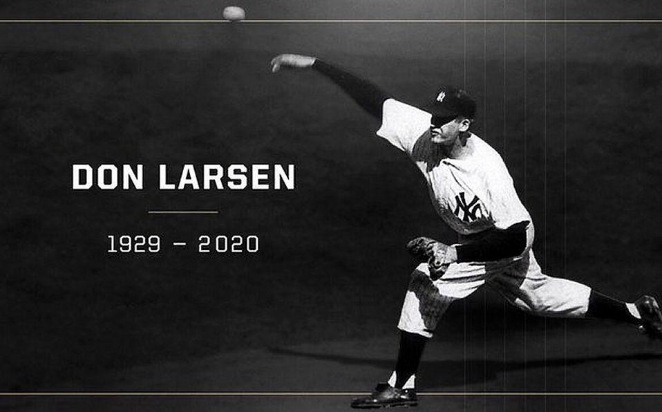 Muere Don Larsen, autor del único Juego Perfecto en Serie Mundial
