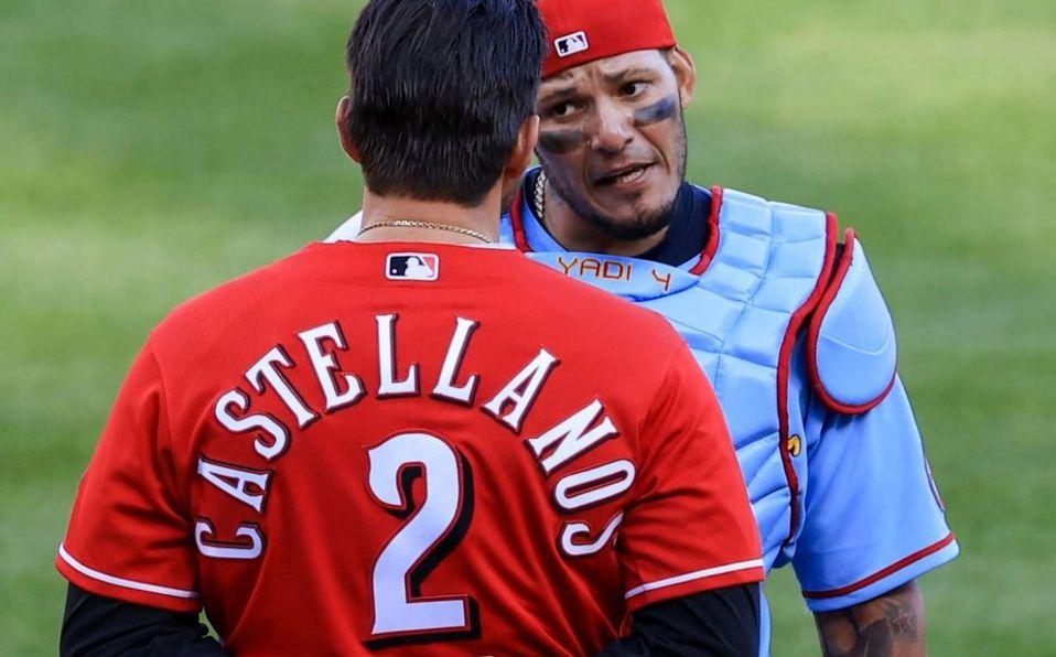 Castellanos y Molina se encararon durante el juego del sábado. (Foto: MLB.com)