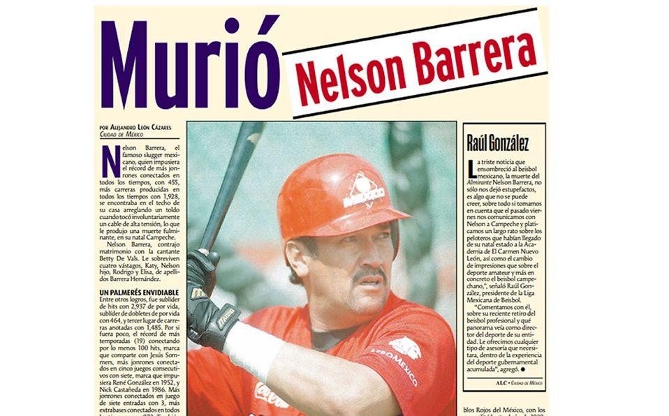 Muertes inesperadas en la Liga Mexicana de Beisbol. Imagen: Archivo La Afición/Milenio