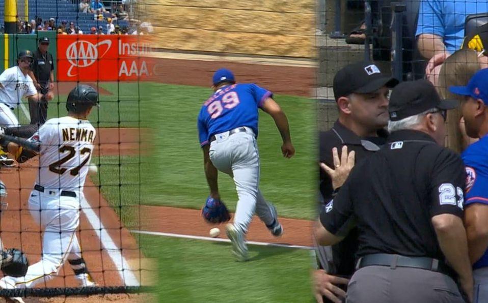 El manager de los Mets fue expulsado inmediatamente tras reclamar la jugada. (MLB.com)