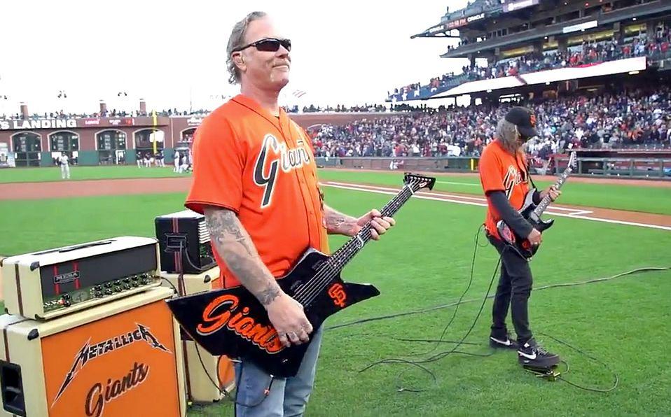 Metallica es un grupo fan del beisbol, y son seguidores de los SF Giants