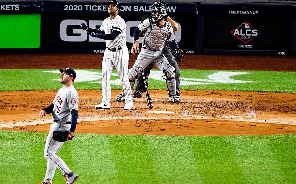 Yankees le pega a Verlander y a los Astros, y siguen vivos