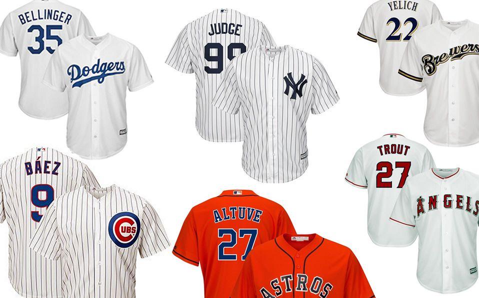 Los 20 jerseys más vendidos en MLB en el 2019