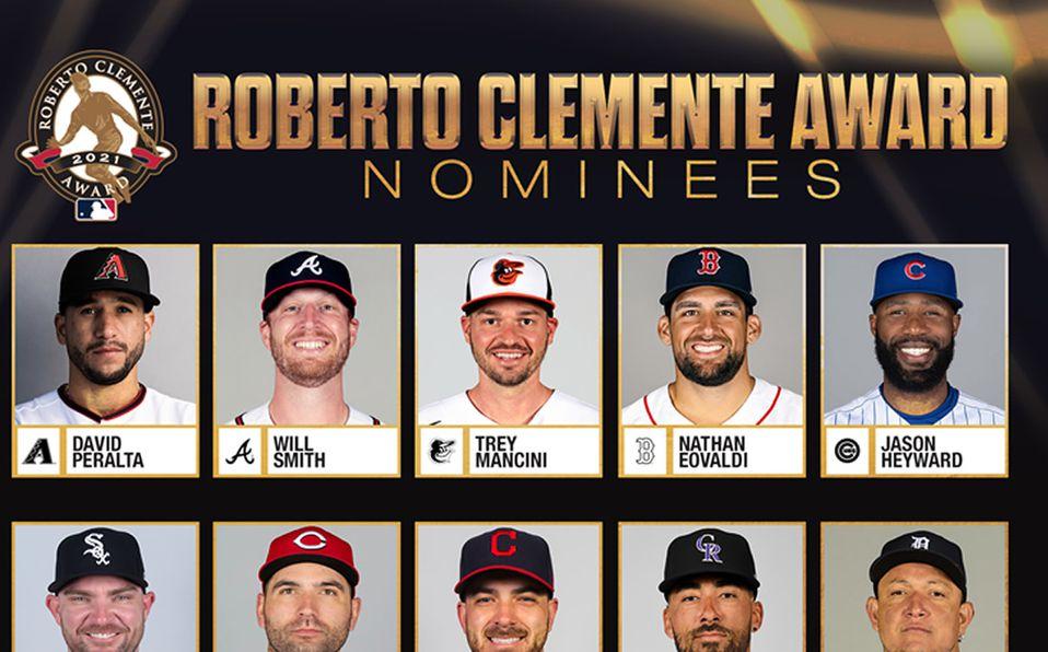 MLB presenta lista de nominados para el Premio Roberto Clemente 2021. Foto: @MLB