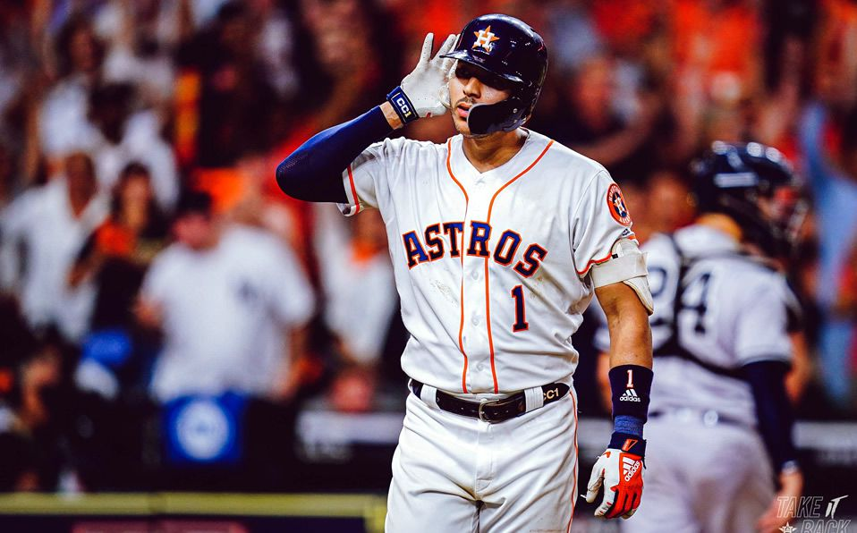 Correa es el primer jugador en la historia de los Astros en conectar un walk-off home run. (Foto: @Astros)