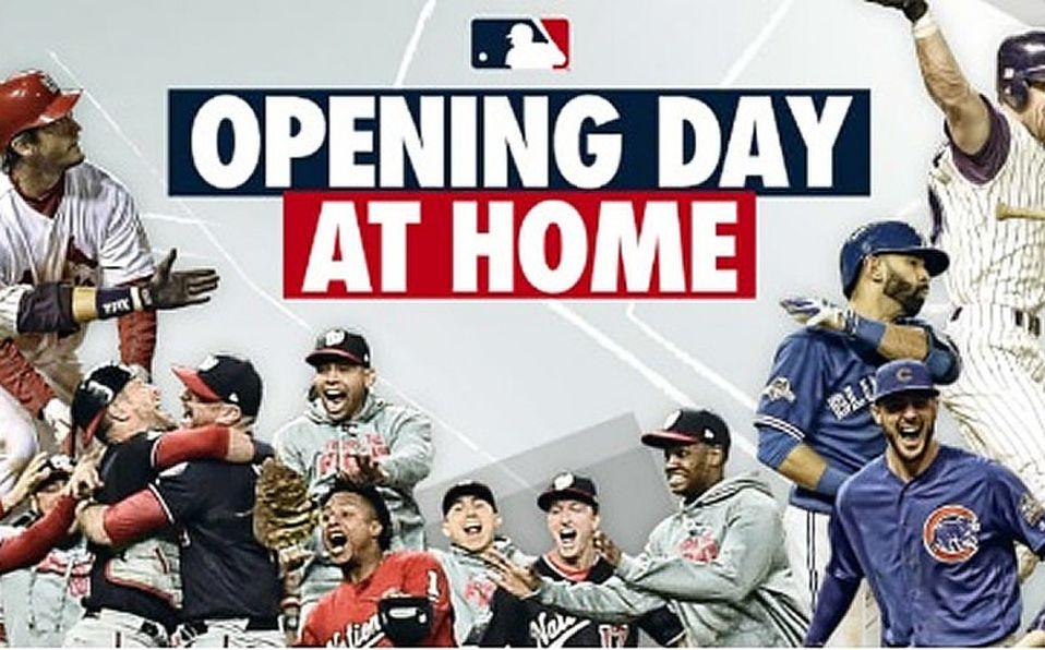 Este es el Opening Day de MLB... en casa