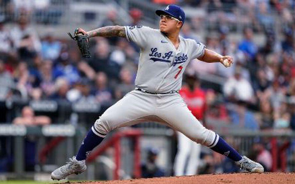 Julio Urías es el pitcher con más victorias en MLB. Foto: AP