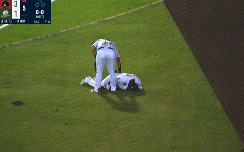 Yadir Drake sufrió una fuerte torcedura de tobillo. (Captura de pantalla)