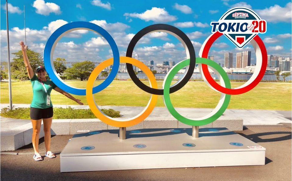 Danielle O'Toole viviendo el sueño olímpico. Foto: Twitter Danielle O'Toole