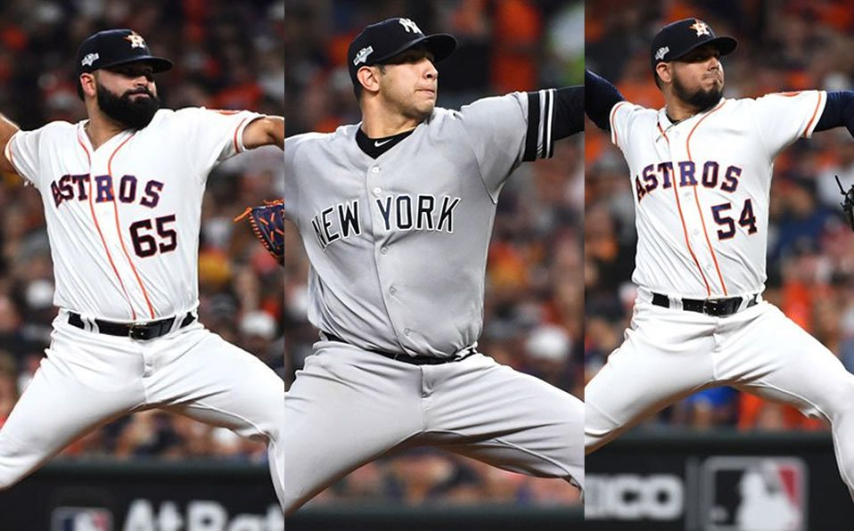 HISTÓRICO: Tres pitchers mexicanos participan en un juego de playoffs