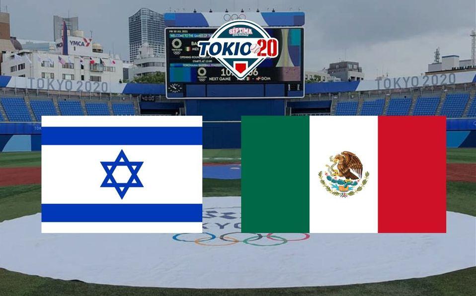 México e Israel pelean por mantenerse al menos dos juegos más en el béisbol de Tokio 2020. (Especial)