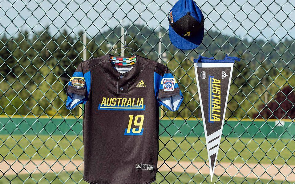 Jersey del representante de Australia para la Serie Mundial de Ligas Pequeñas. Foto: Adidas