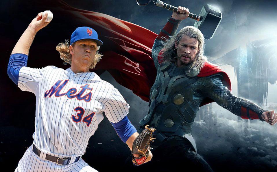 Noah Syndergaard es apodado Thor por su cabellera rubia, piel blanca y ojos claros. (Foto: The Cycle)