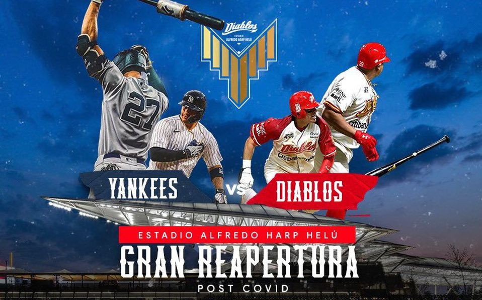 Los equipos más ganadores de Grandes Ligas y de la Liga Mexicana se verán las caras. (Foto: @DiablosRojosMX)