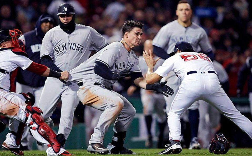 Imagen del último altercado entre Nueva York y Boston durante la temporada 2018. (Foto: @ABC7NY)