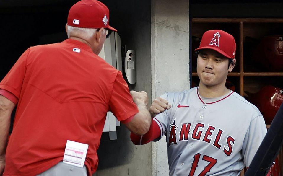 Shohei Ohtani fue elegido como el bateador designado titular de la Liga Americana. (AP)