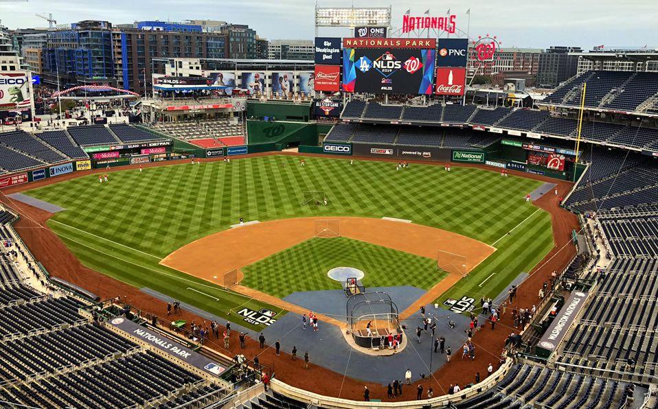 El Nationals Park tiene asegurados los Juegos 3 y 4; de acabar empatados, el quinto sería en Dodger Stadium. (Foto: @team980)