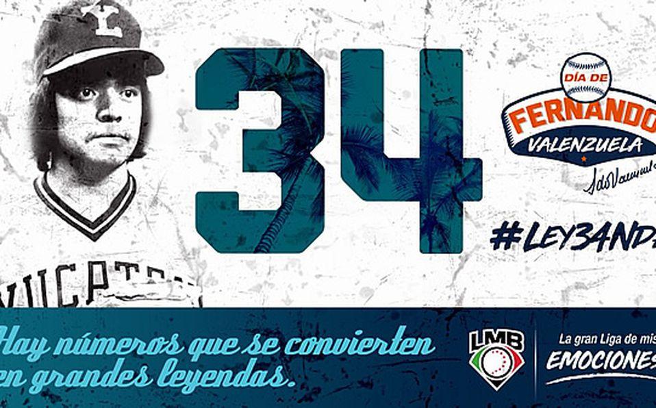 La Liga Mexicana de Beisbol retirará el #34 de Fernando Valenzuela